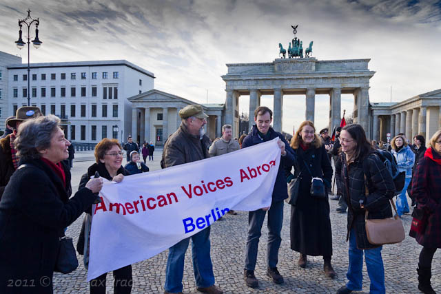 AVA-Berlin demonstrates in support of democracy in Egypt